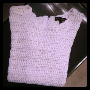 Banana Republic knit sweater white sz Small